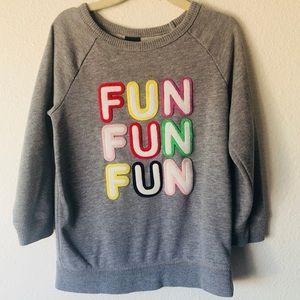 Baby Gap Fun fun fun pullover sz 4T
